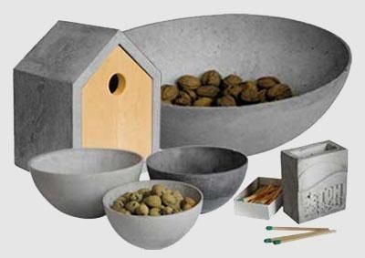 mehr als grau accessoires aus beton aktuelle. Black Bedroom Furniture Sets. Home Design Ideas