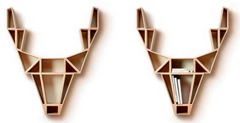 Bücherregal design wand  Deer-Regal: Tradition trifft Eleganz und Design   Aktuelle ...